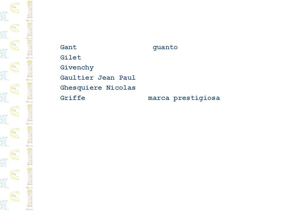 Gant guantoGilet.Givenchy. Gaultier Jean Paul.