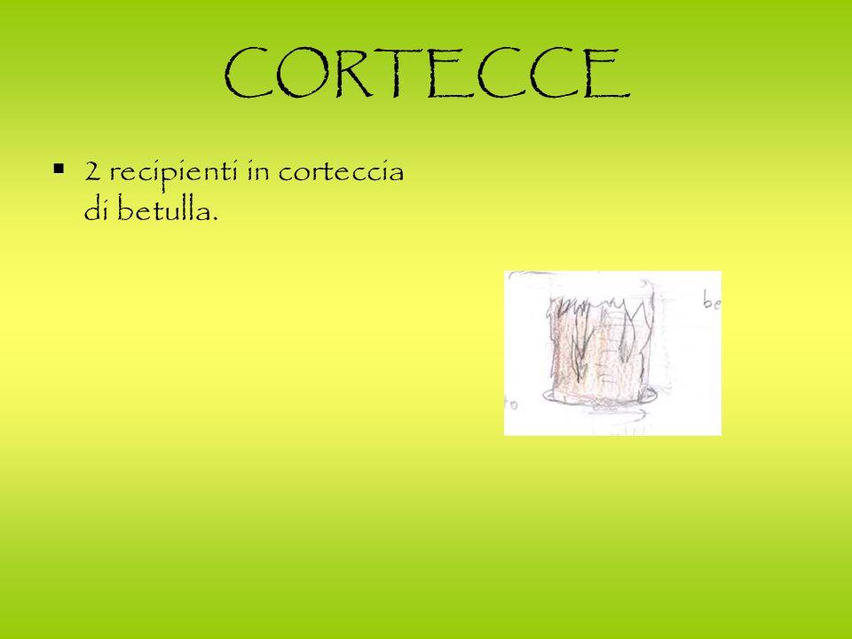 CORTECCE 2 recipienti in corteccia di betulla.