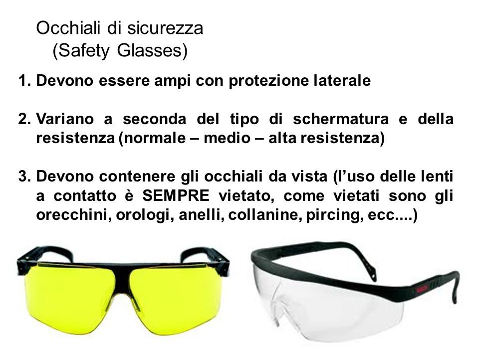 Occhiali di sicurezza (Safety Glasses)