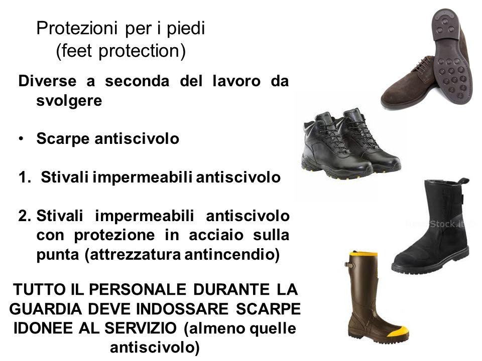 Protezioni per i piedi (feet protection)