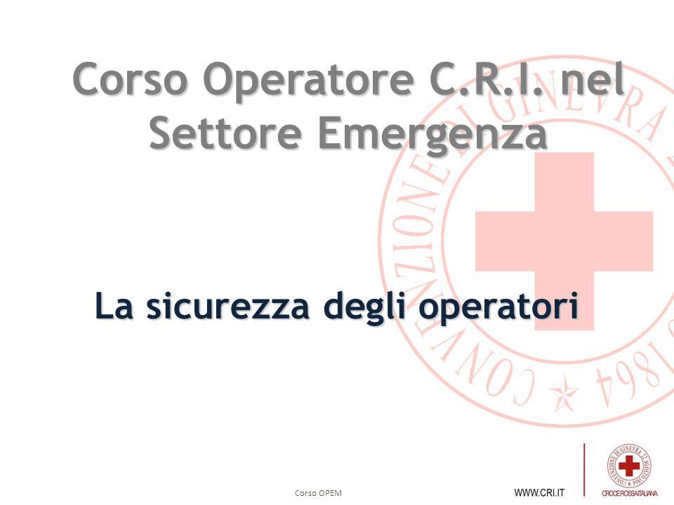 Corso Operatore C.R.I. nel Settore Emergenza