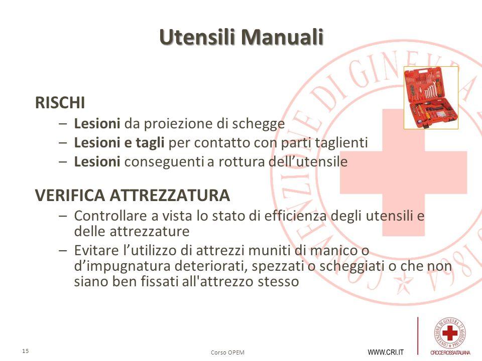 Utensili Manuali RISCHI VERIFICA ATTREZZATURA