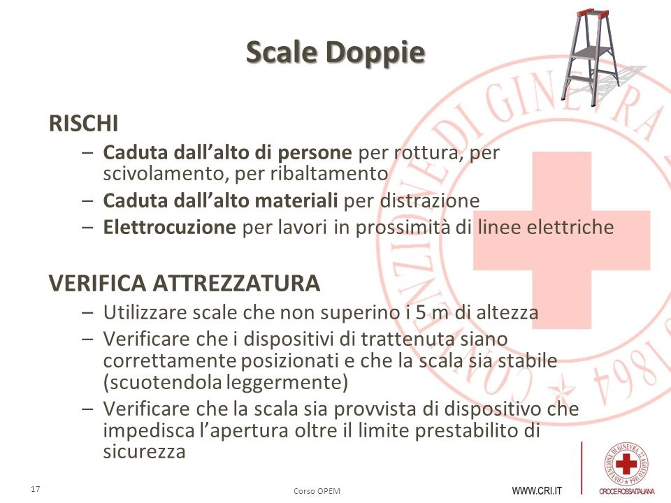 Scale Doppie RISCHI VERIFICA ATTREZZATURA