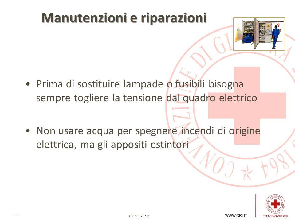Manutenzioni e riparazioni