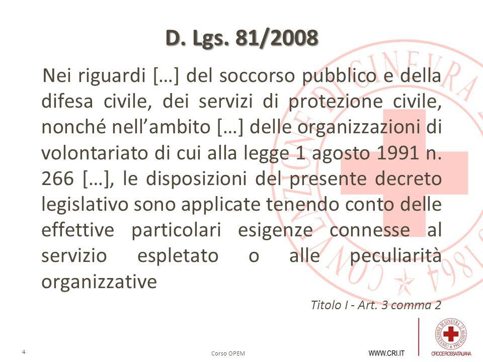 D. Lgs. 81/2008