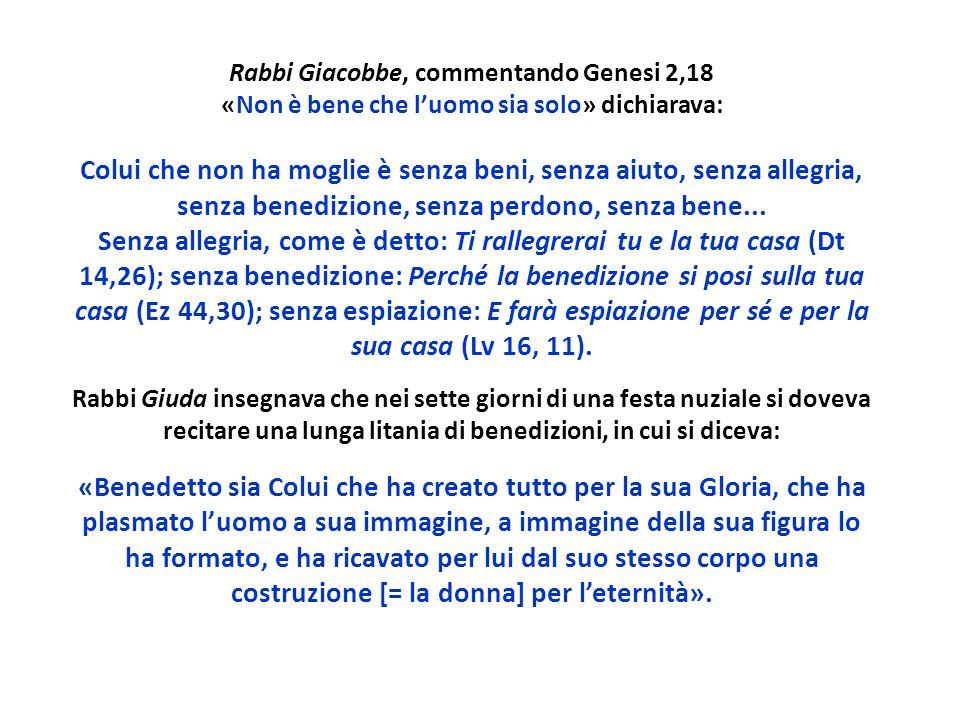 Rabbi Giacobbe, commentando Genesi 2,18