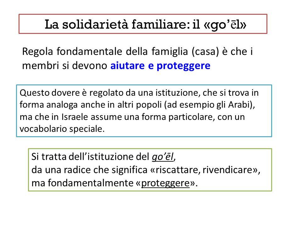 La solidarietà familiare: il «go'ēl»