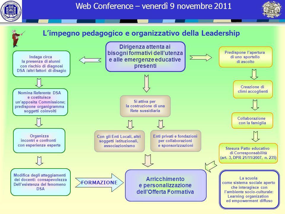 L'impegno pedagogico e organizzativo della Leadership