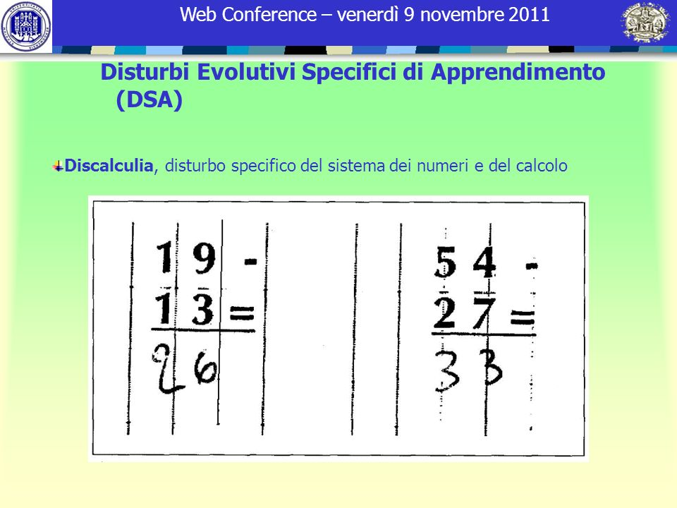 Disturbi Evolutivi Specifici di Apprendimento (DSA)