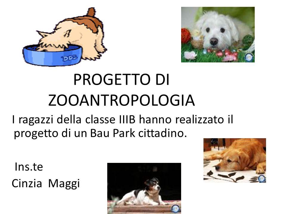 PROGETTO DI ZOOANTROPOLOGIA