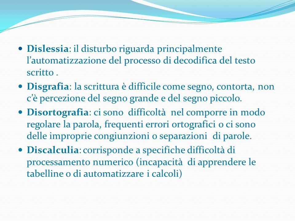 Dislessia: il disturbo riguarda principalmente l'automatizzazione del processo di decodifica del testo scritto .
