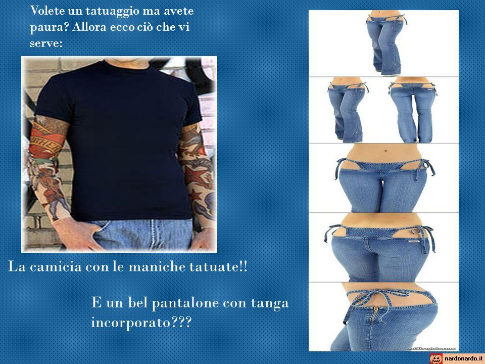 La camicia con le maniche tatuate!!