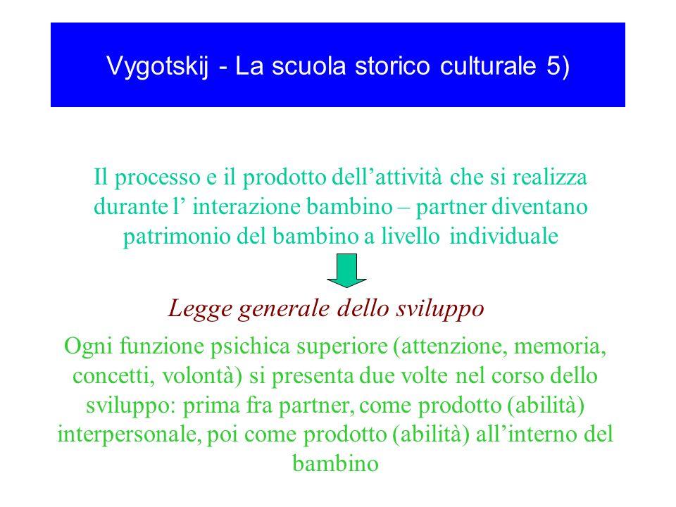 Vygotskij - La scuola storico culturale 5)