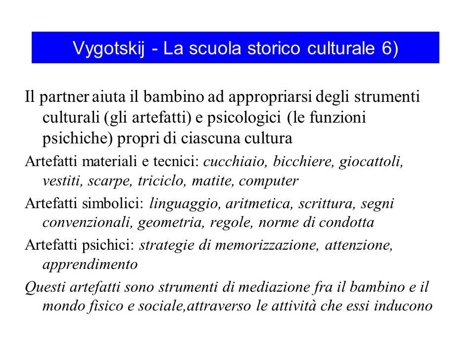 Vygotskij - La scuola storico culturale 6)