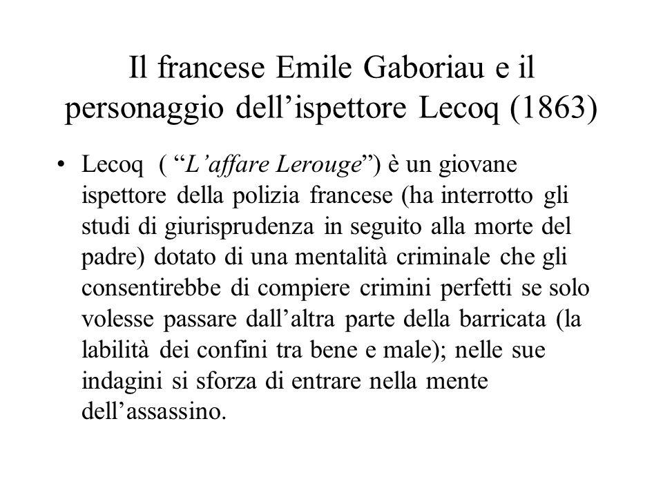 Il francese Emile Gaboriau e il personaggio dell'ispettore Lecoq (1863)