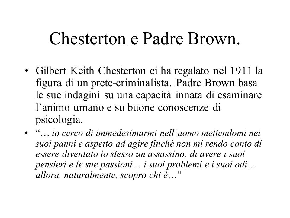Chesterton e Padre Brown.