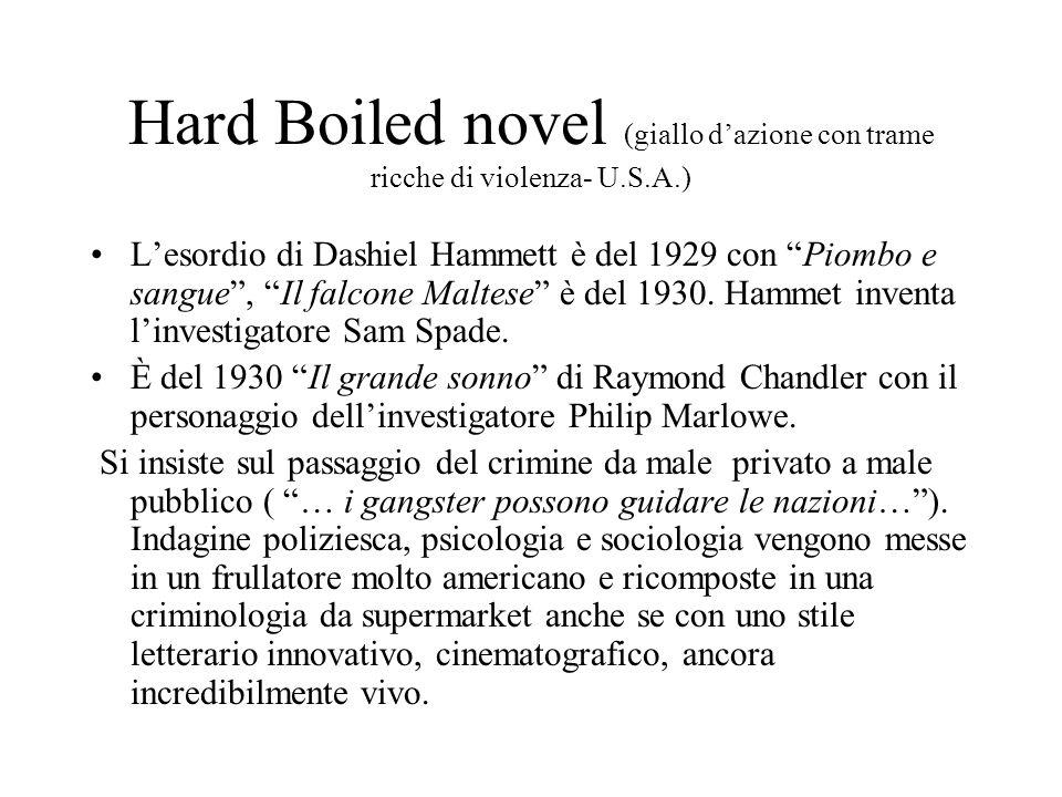 Hard Boiled novel (giallo d'azione con trame ricche di violenza- U. S
