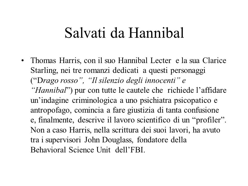 Salvati da Hannibal