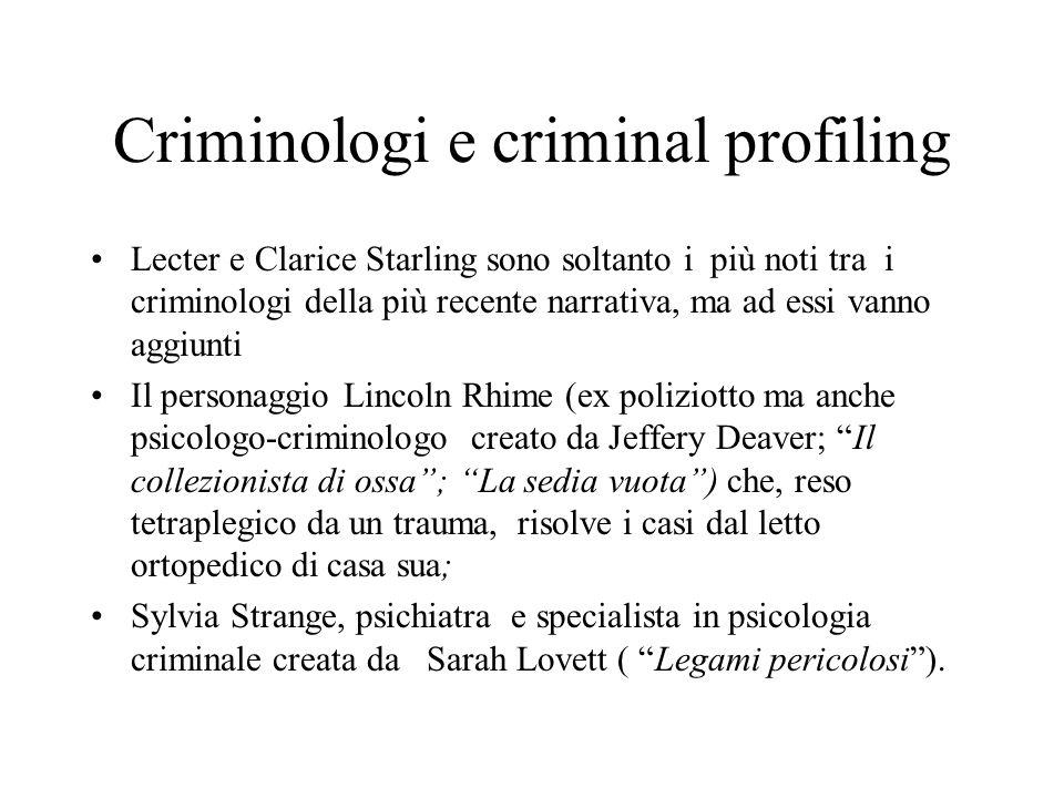 Criminologi e criminal profiling