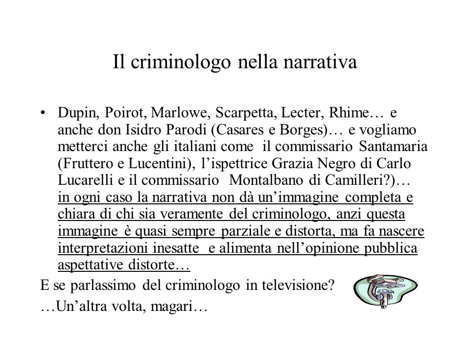 Il criminologo nella narrativa