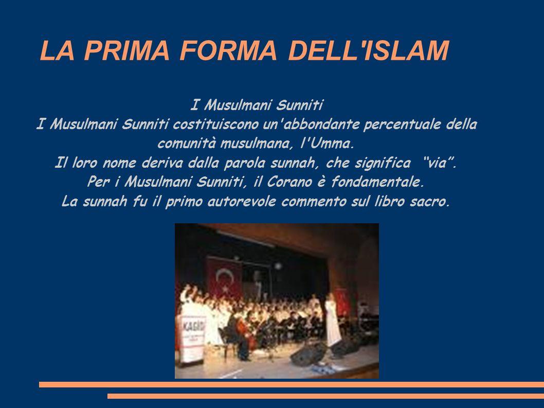 LA PRIMA FORMA DELL ISLAM