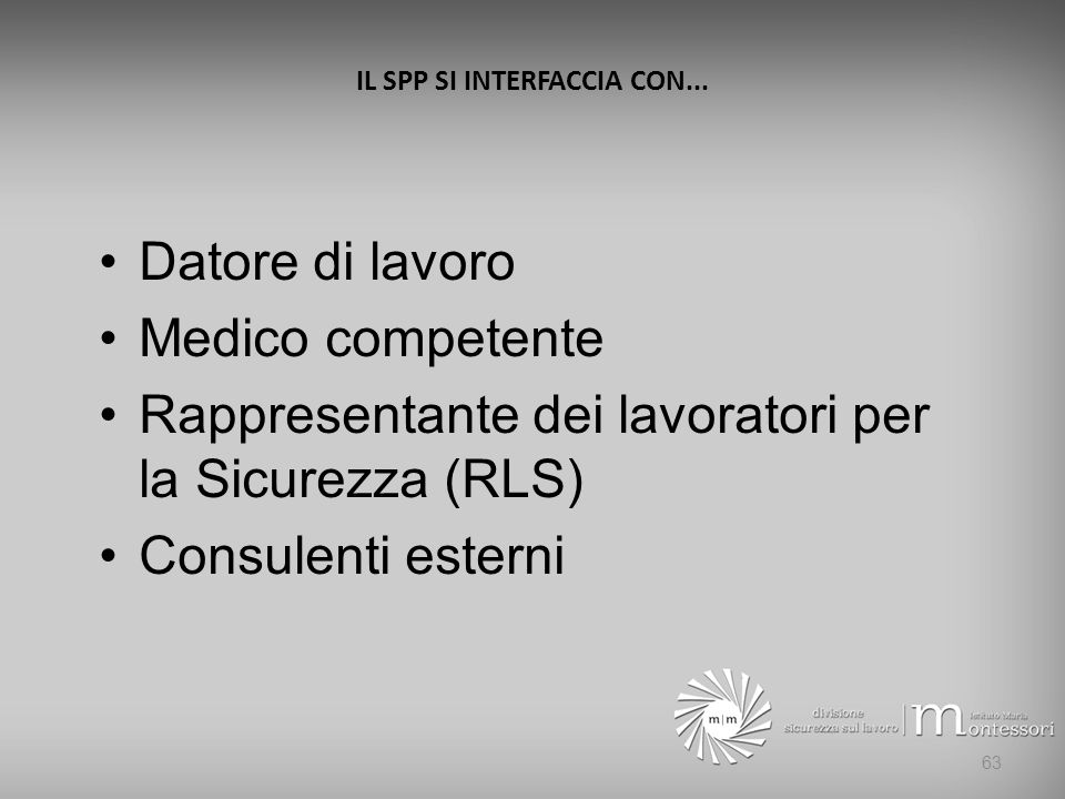 IL SPP SI INTERFACCIA CON...