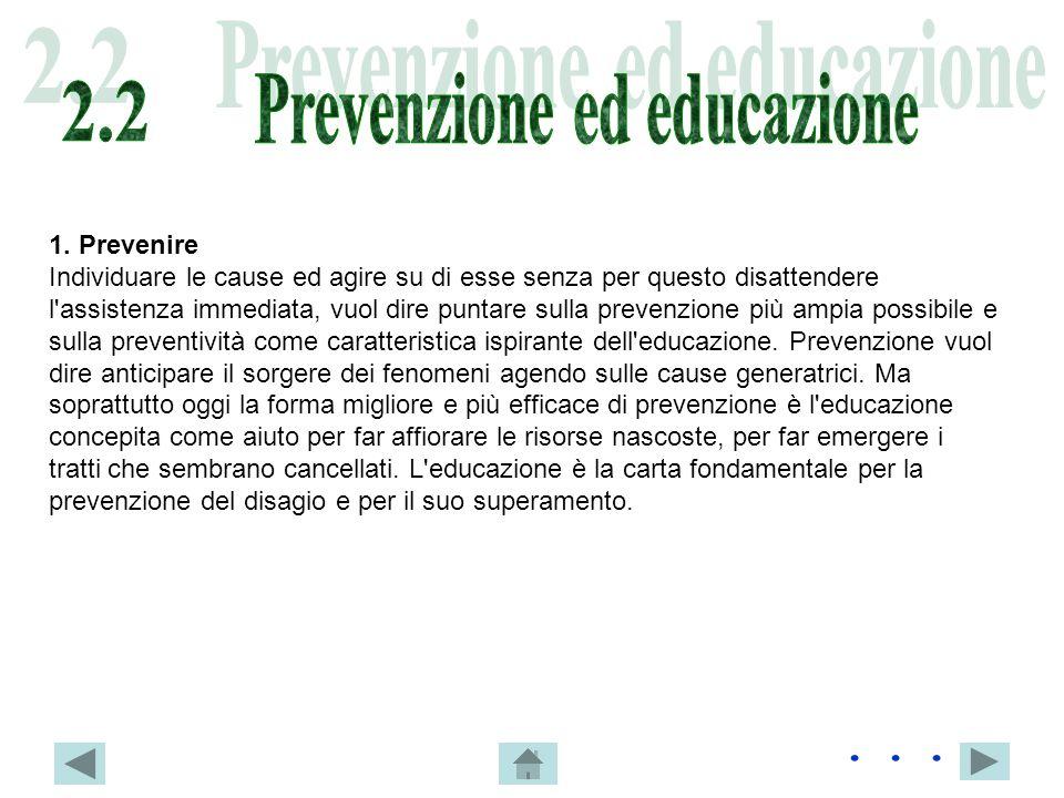 Prevenzione ed educazione
