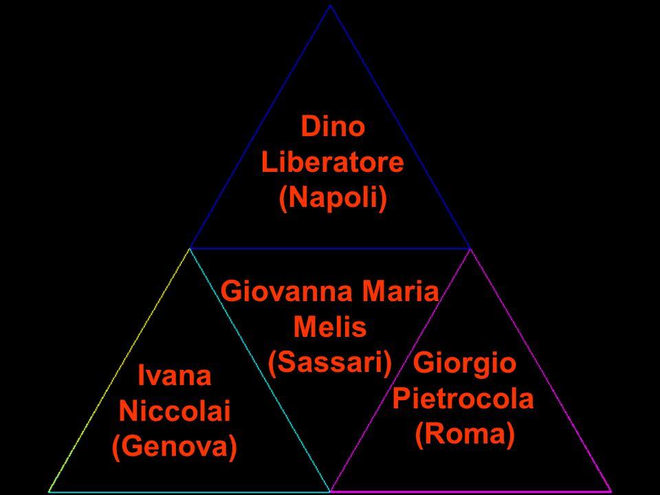Dino Liberatore. (Napoli) Giovanna Maria. Melis. (Sassari) Giorgio. Pietrocola. (Roma) Ivana.