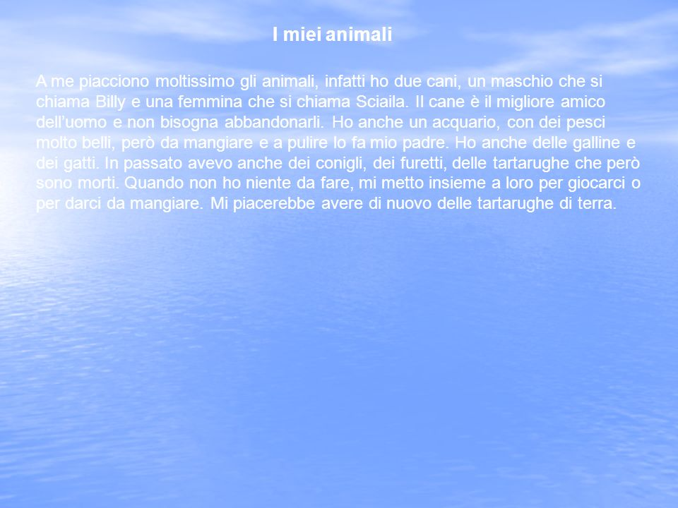 I miei animali