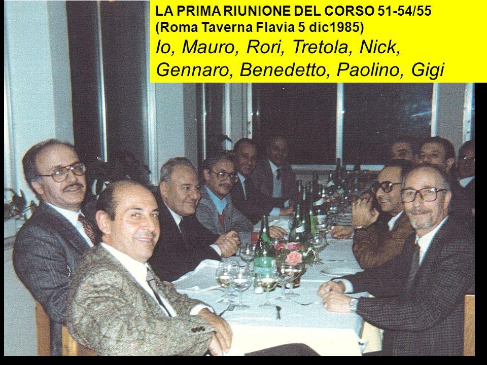 Io, Mauro, Rori, Tretola, Nick, Gennaro, Benedetto, Paolino, Gigi