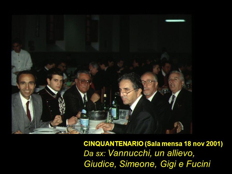 Da sx: Vannucchi, un allievo, Giudice, Simeone, Gigi e Fucini