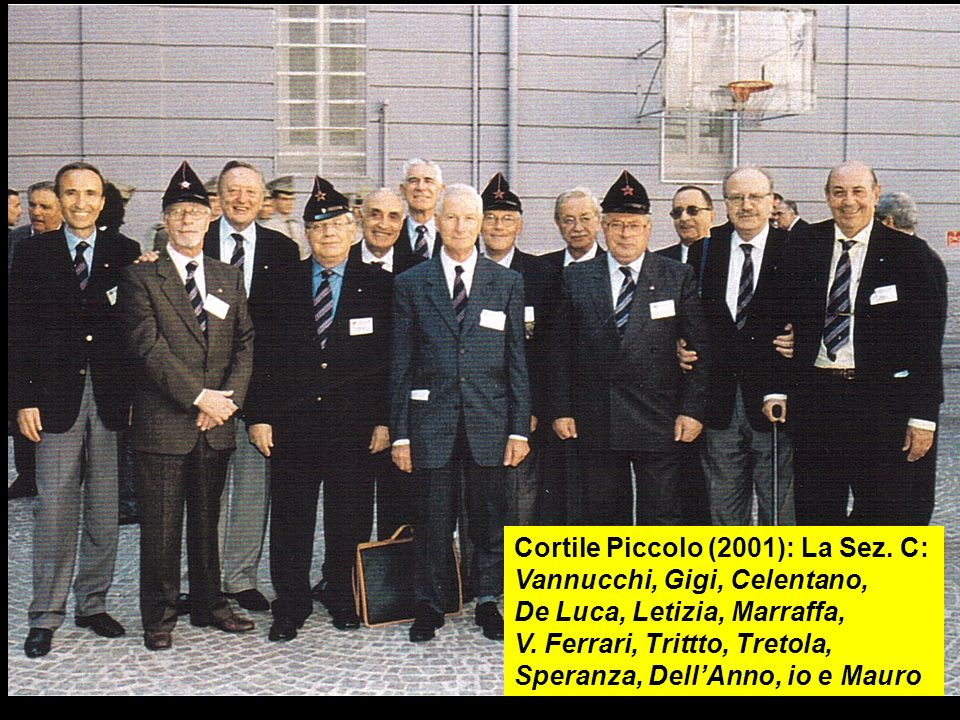 Cortile Piccolo (2001): La Sez. C: Vannucchi, Gigi, Celentano,