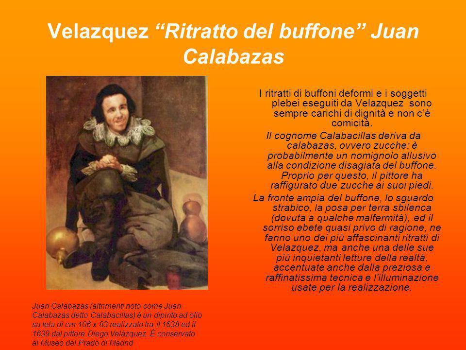 Velazquez Ritratto del buffone Juan Calabazas