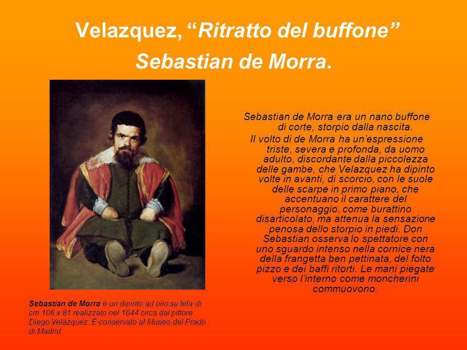 Velazquez, Ritratto del buffone Sebastian de Morra.