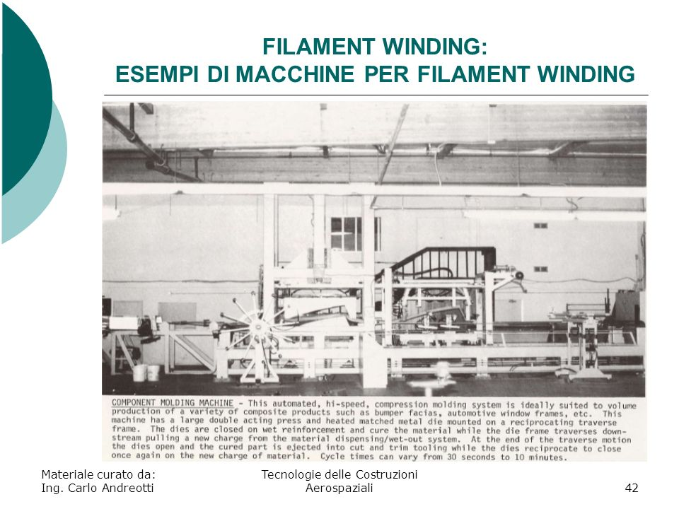 FILAMENT WINDING: ESEMPI DI MACCHINE PER FILAMENT WINDING