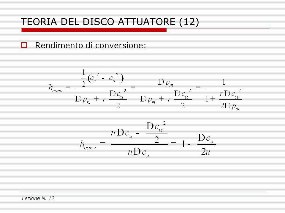 TEORIA DEL DISCO ATTUATORE (12)
