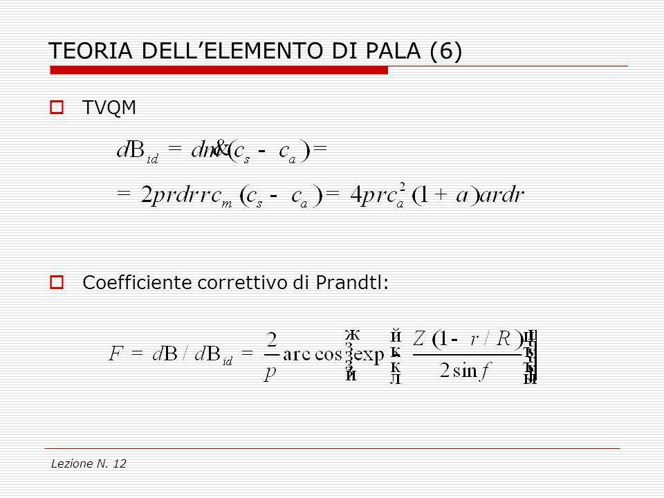 TEORIA DELL'ELEMENTO DI PALA (6)