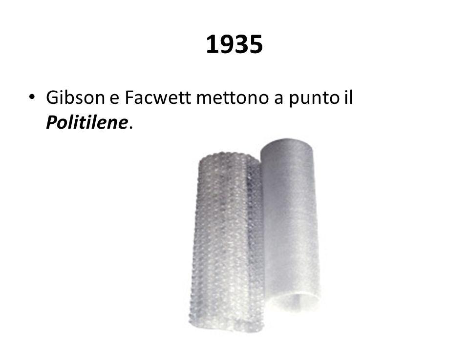 1935 Gibson e Facwett mettono a punto il Politilene.