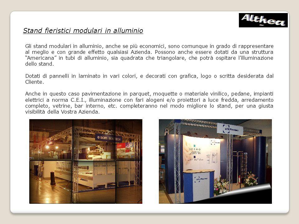 Stand fieristici modulari in alluminio