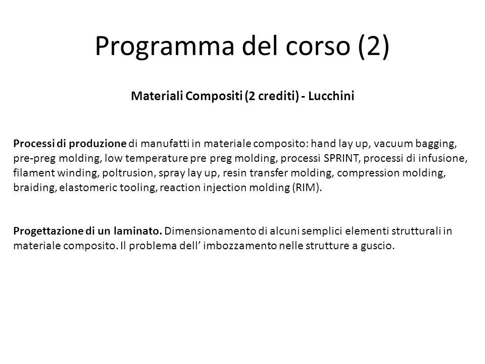 Materiali Compositi (2 crediti) - Lucchini