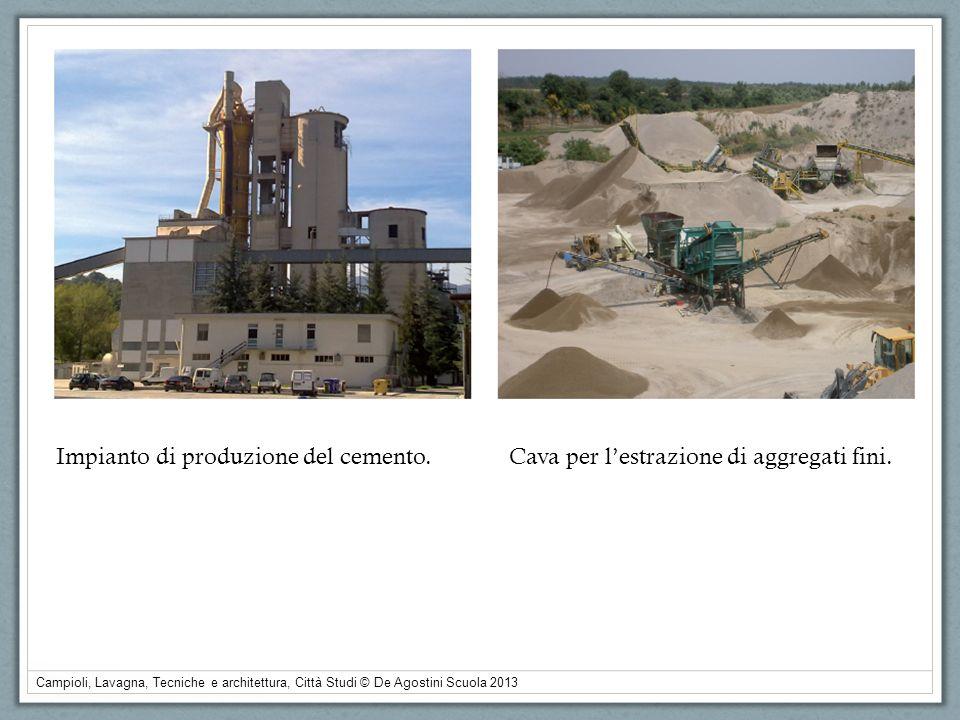 Impianto di produzione del cemento.