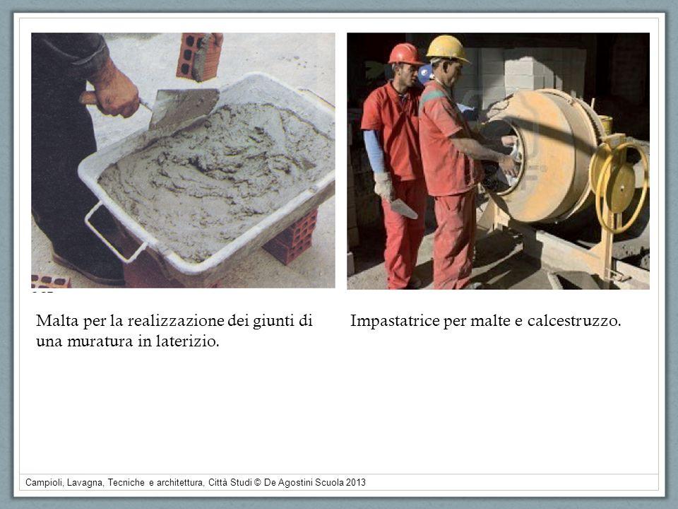 Malta per la realizzazione dei giunti di una muratura in laterizio.