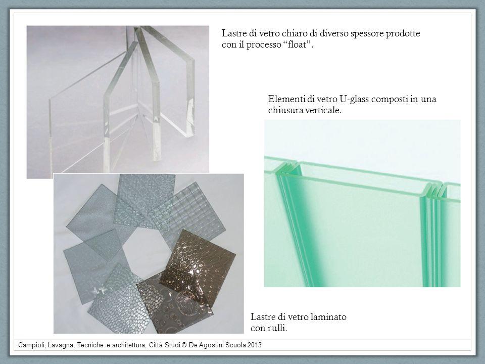 Lastre di vetro chiaro di diverso spessore prodotte con il processo float .