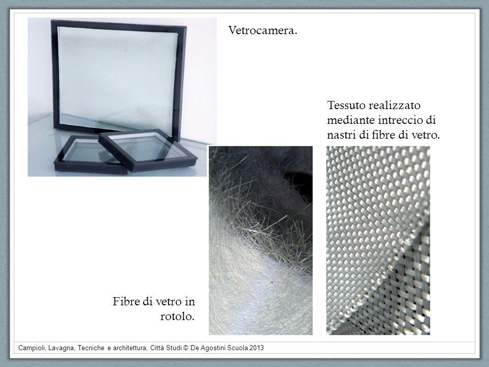 Vetrocamera.Tessuto realizzato mediante intreccio di nastri di fibre di vetro.