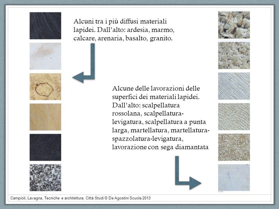Alcuni tra i più diffusi materiali lapidei