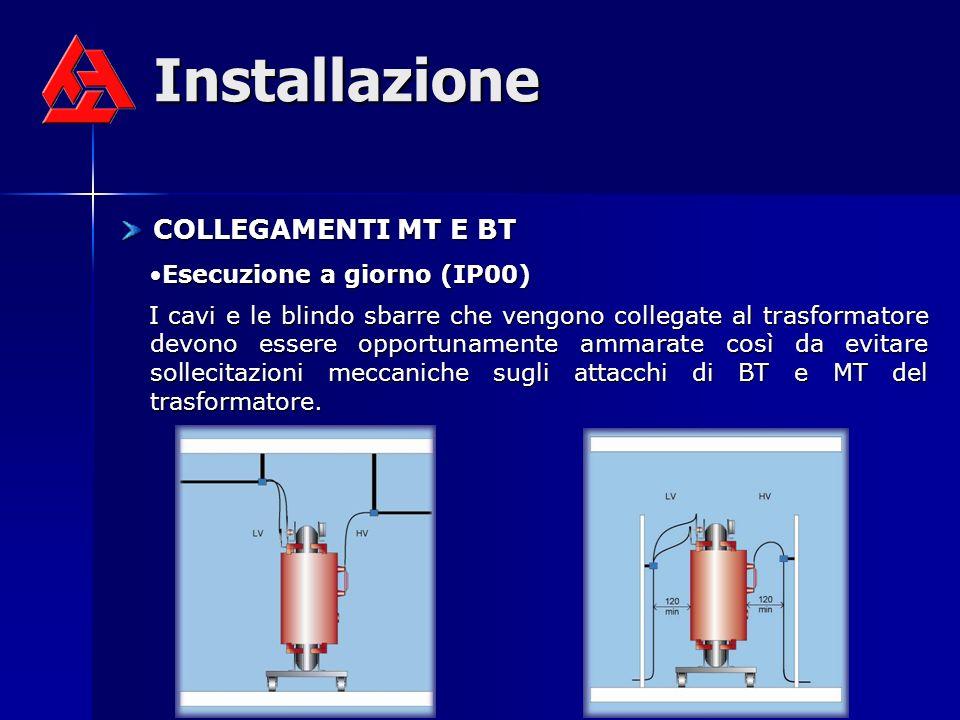 Installazione COLLEGAMENTI MT E BT Esecuzione a giorno (IP00)