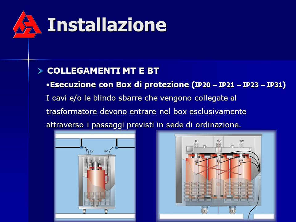 Installazione COLLEGAMENTI MT E BT