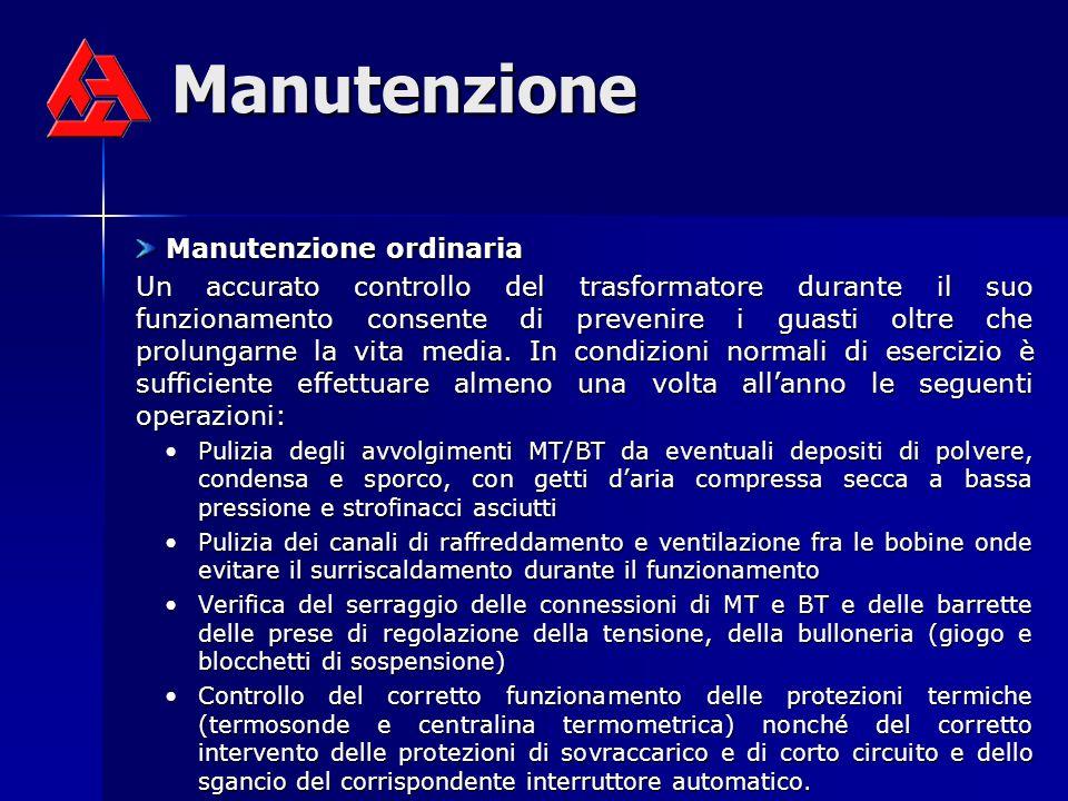 Manutenzione Manutenzione ordinaria