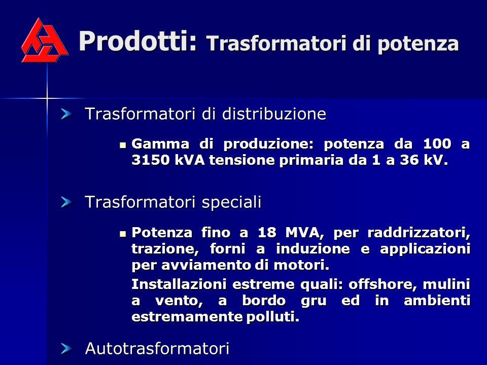 Prodotti: Trasformatori di potenza