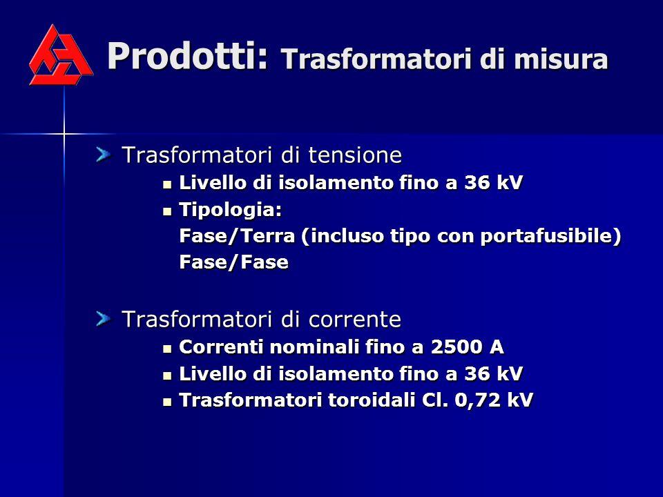 Prodotti: Trasformatori di misura
